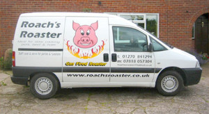 Roaches Roaster Nantwich hog roast cheshire functions party events
